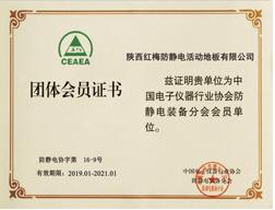 红梅地板-活动团体会员证书